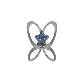 انگشتر طلا ستاره آبی
