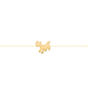 دستبند طلا گربه