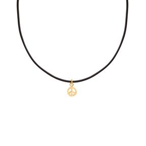 گردنبند طلا چرم نماد صلح