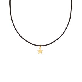 گردنبند طلا چرم ستاره