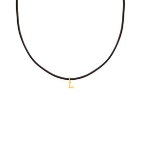 گردنبند طلا چرم حرف L