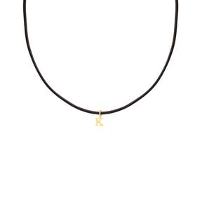 گردنبند طلا چرم حرف K