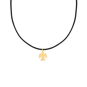 گردنبند طلا چرم فرشته کوچک