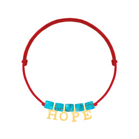 دستبند طلا بچه گانه بافت HOPE