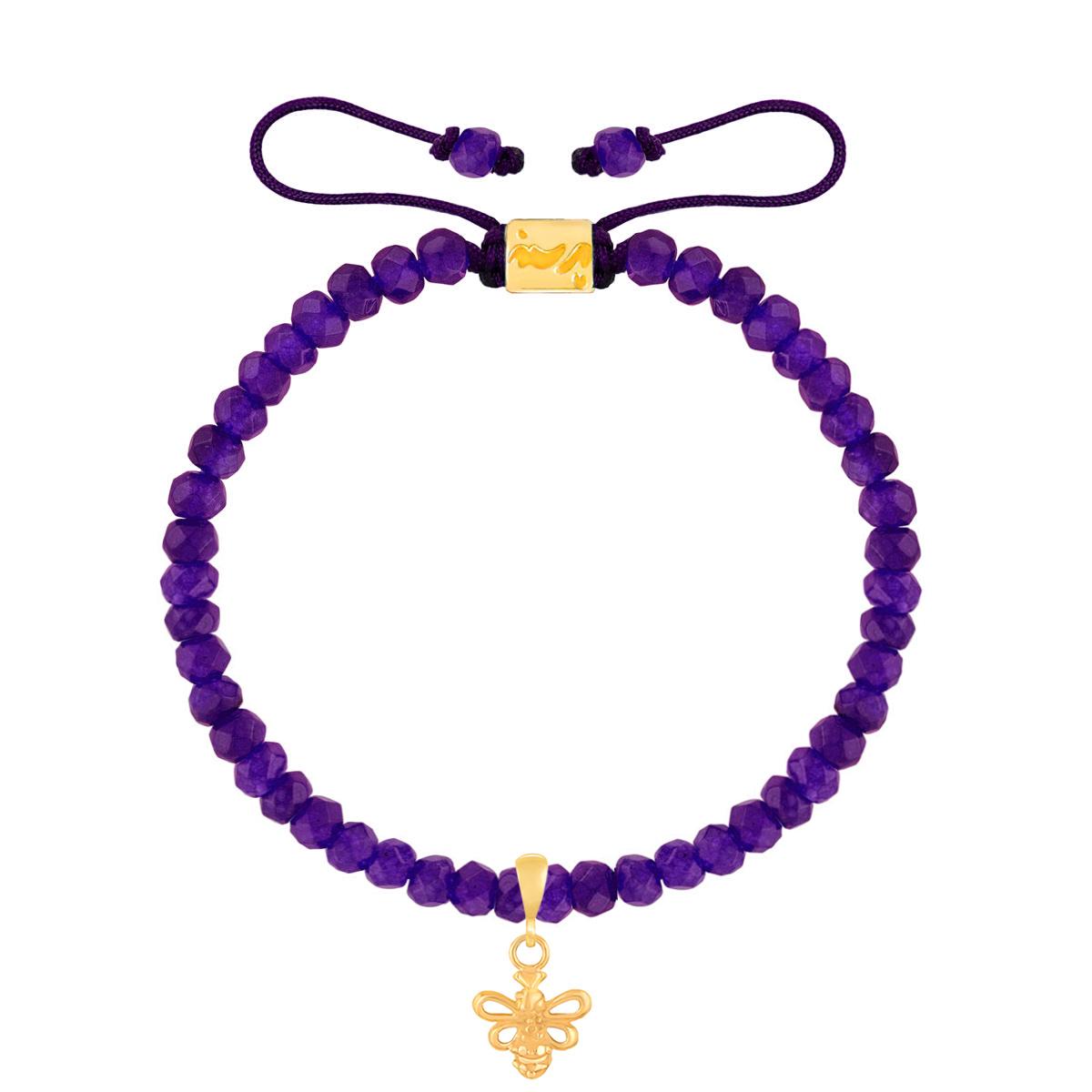 دستبند طلا بچه گانه سنگی زنبور