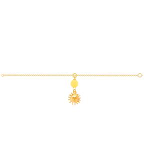 دستبند طلا بچه گانه خورشید