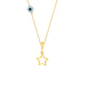 گردنبند طلا بچه گانه ستاره بزرگ