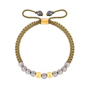 دستبند طلا بافت گوی طلا