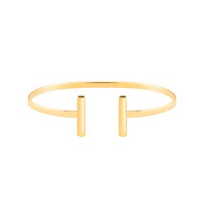 دستبند طلا دو استوانه