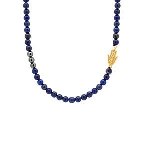 گردنبند طلا سنگی دست طرحدار