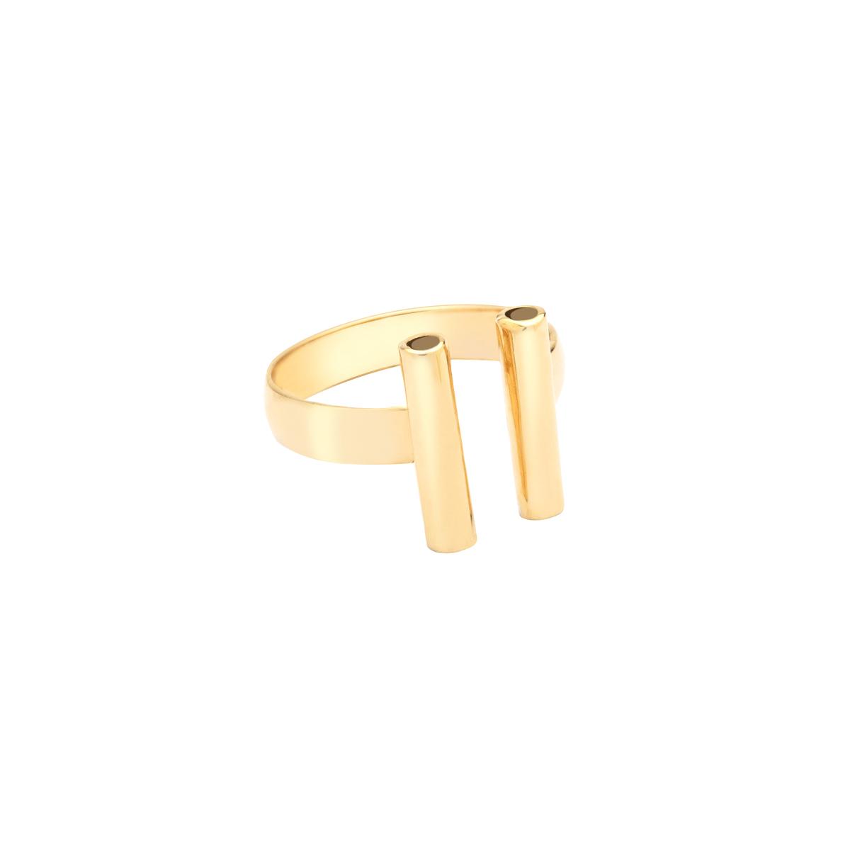 انگشتر طلا دو استوانه