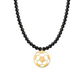 گردنبند طلا سنگی توپ فوتبال