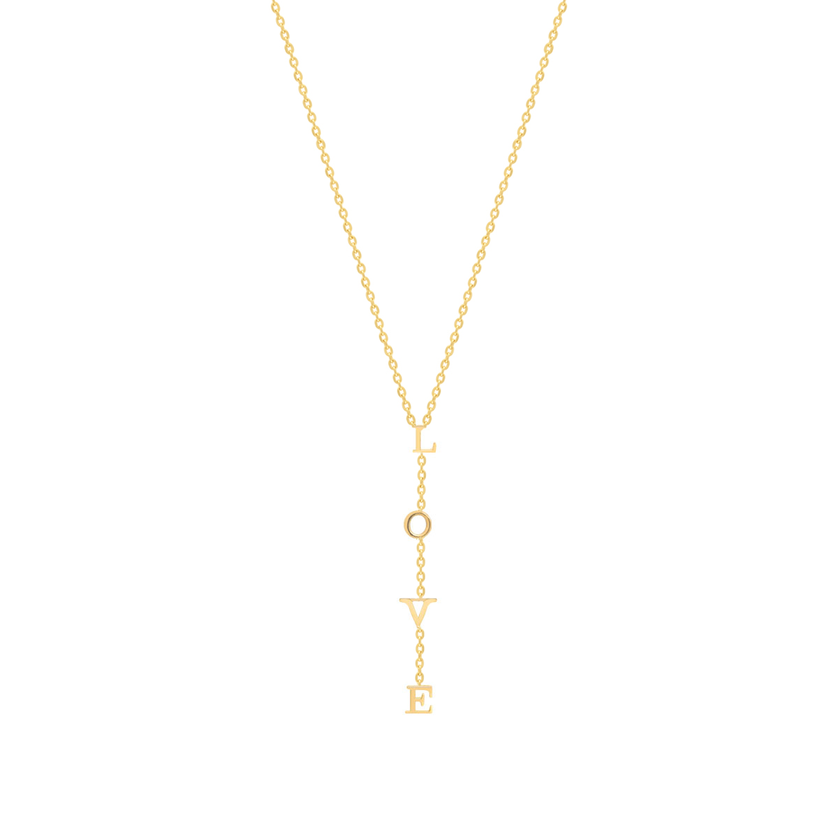 گردنبند طلا L-O-V-E