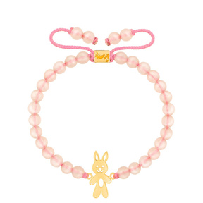 دستبند طلا سنگی بچه گانه خرگوش