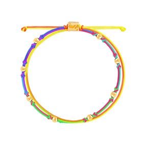دستبند طلا بافت رنگین کمان هشت گوی
