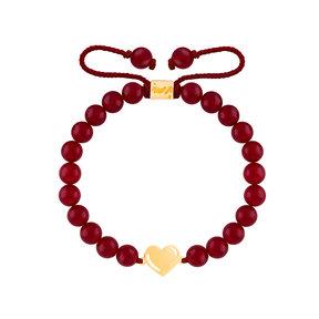 دستبند طلا سنگی قلب ولنتاین