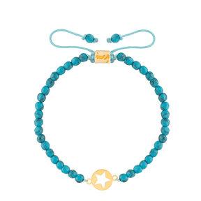 دستبند طلا سنگی پلاک ستاره
