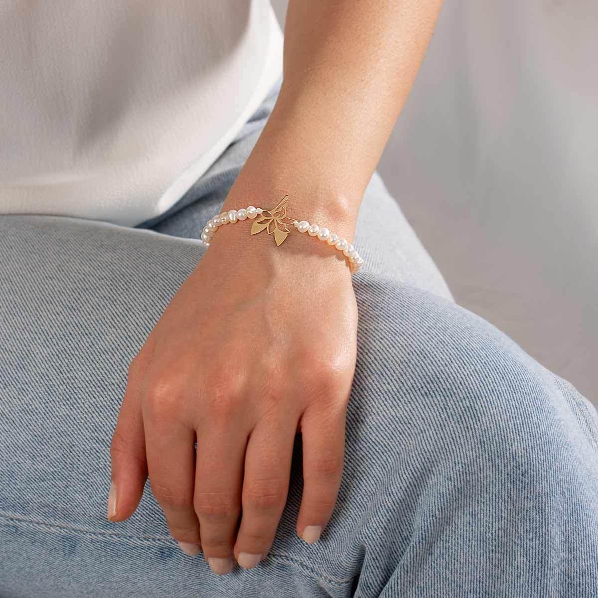 دستبند طلا سنگی عدد هفت
