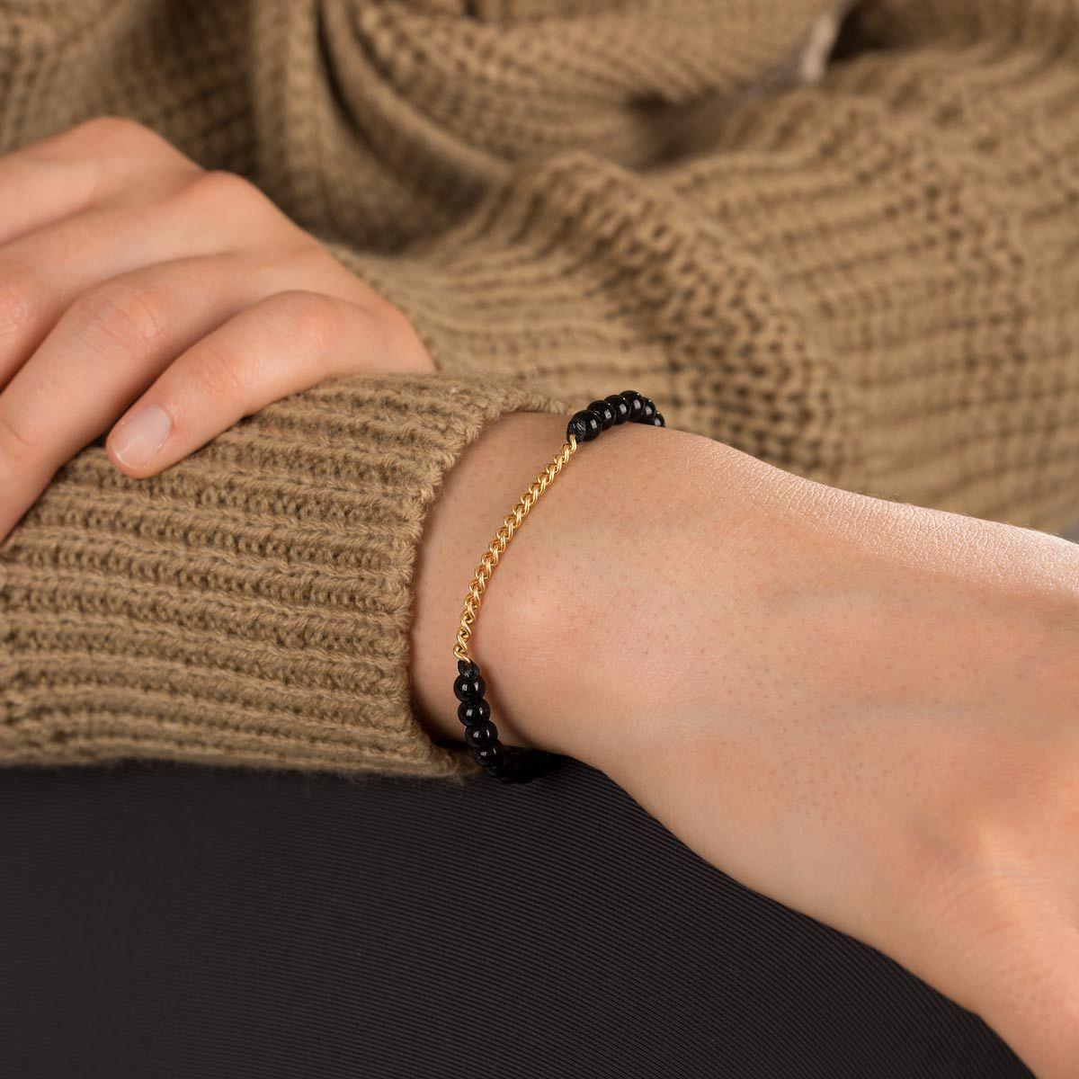 دستبند طلا سنگی هجده حلقه کارتیه