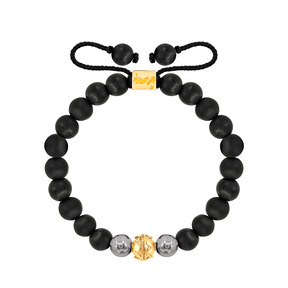دستبند طلا سنگی تک گوی طرحدار