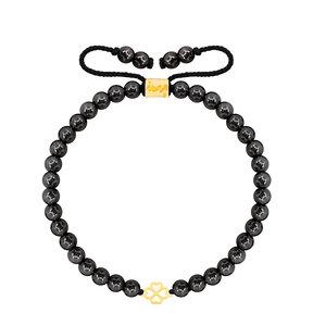 دستبند طلا سنگی شبدر کوچک