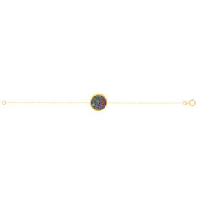 دستبند طلا کوارتز هفت رنگ متوسط