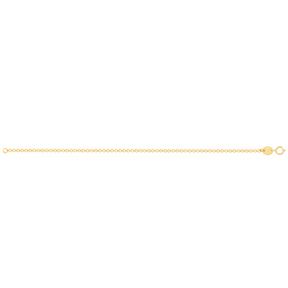 دستبند زنجیری طلا رولو نازک