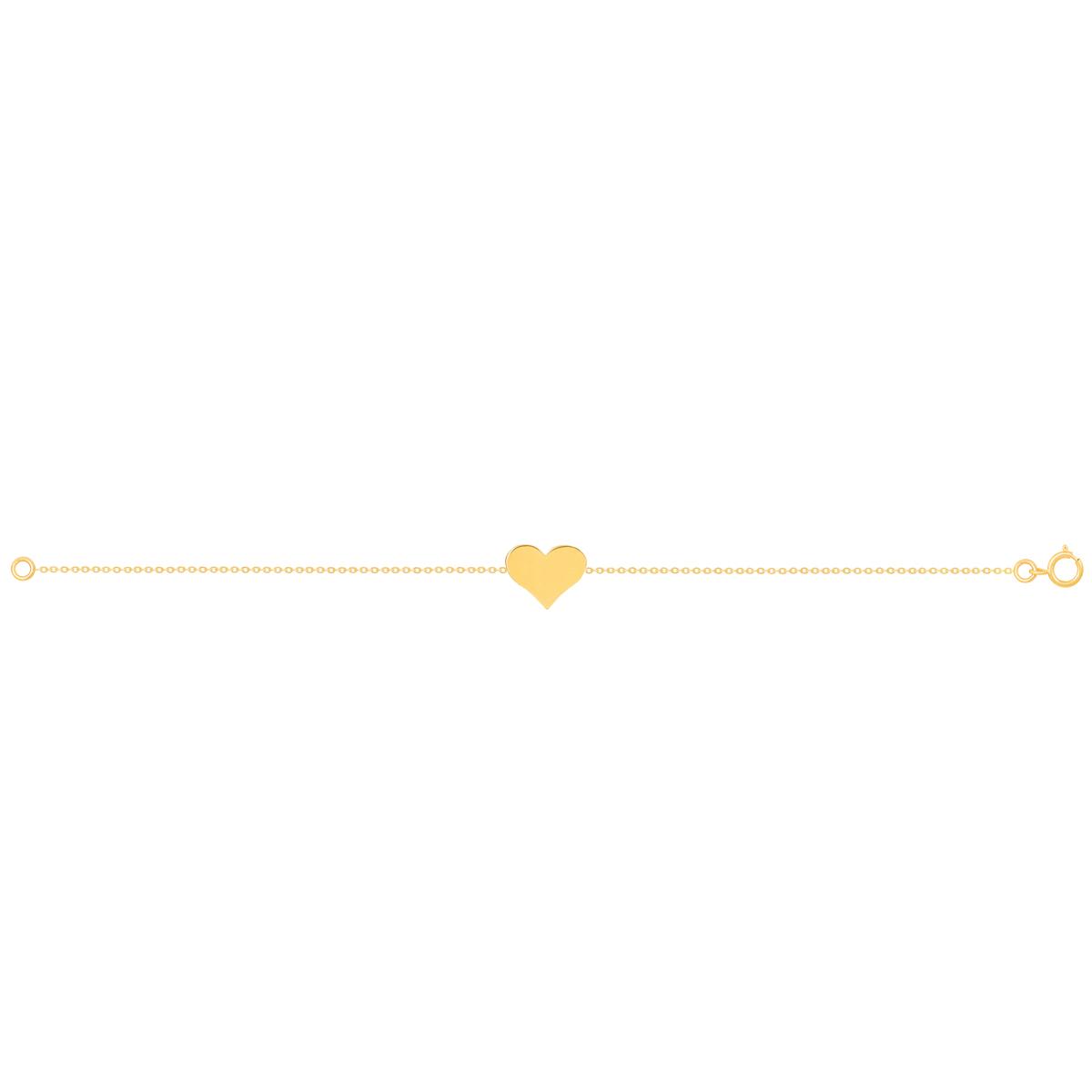 دستبند طلا قلب کوچک