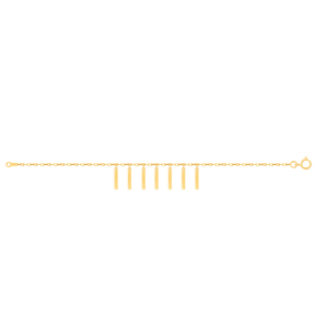 دستبند طلا پری دریایی مستطیل