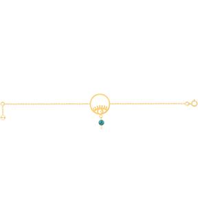 دستبند طلا چشم دایره