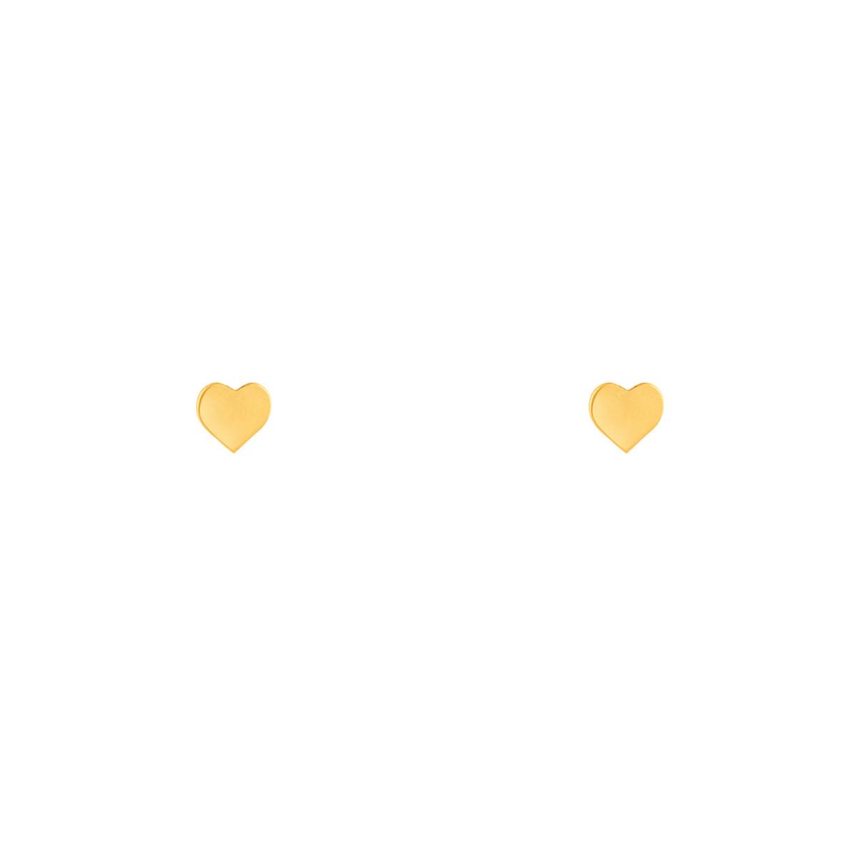 گوشواره طلا قلب متوسط