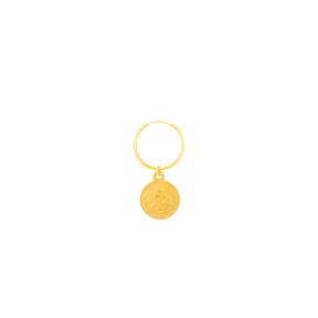 گوشواره طلا تک لنگه ای سکه
