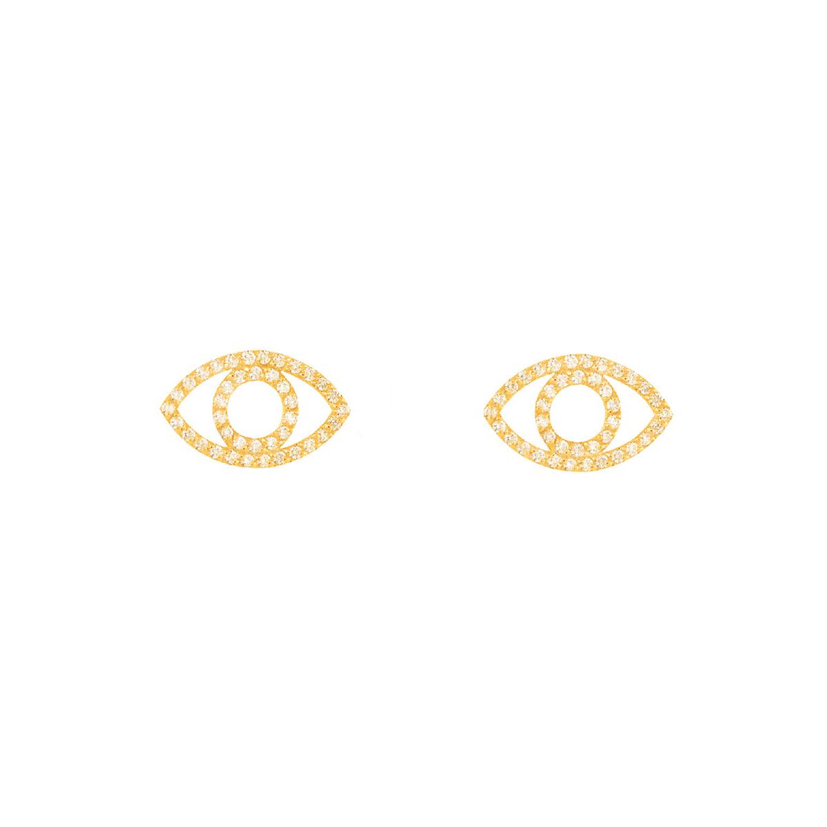گوشواره طلا چشم و برلیان
