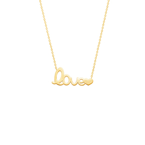 گردنبند طلا Love