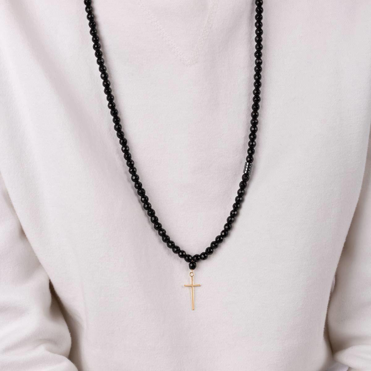 گردنبند طلا سنگی صلیب