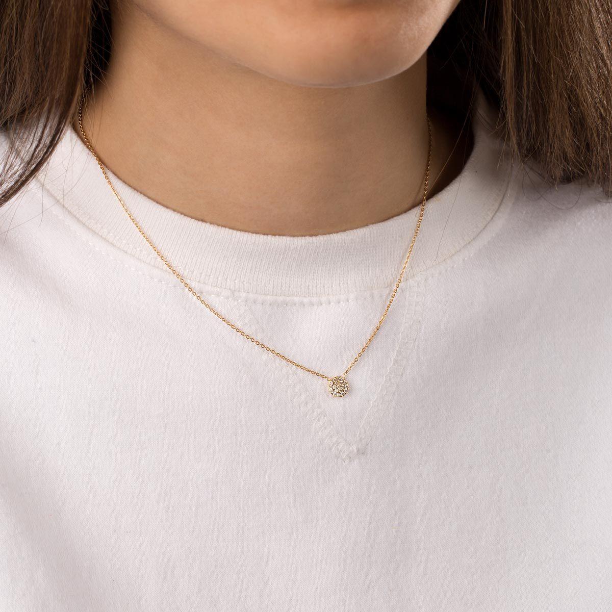 گردنبند طلا دایره کوچک