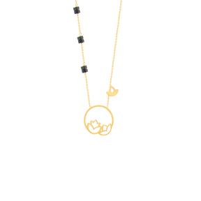 گردنبند طلا اسلیمی لوتوس