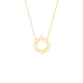 گردنبند طلا اسلیمی خورشید