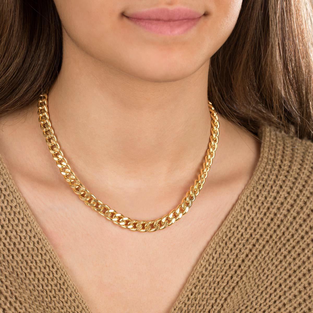 زنجیر گردنبند طلا کارتیه سایز 4