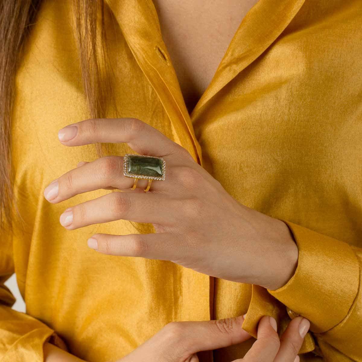 انگشتر طلا دو رینگ هرا