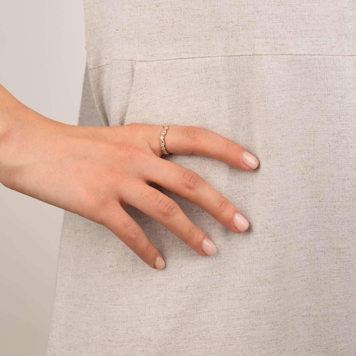 انگشتر طلا دورنگین مارکیز و لونا