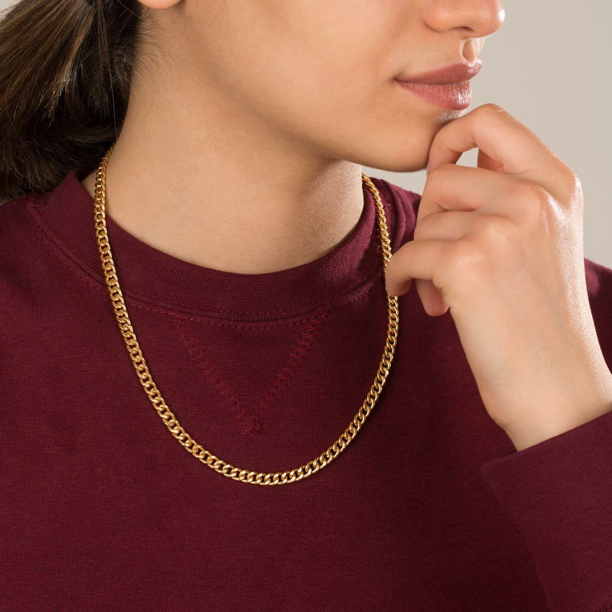 زنجیر گردنبند طلا کارتیه سایز 3