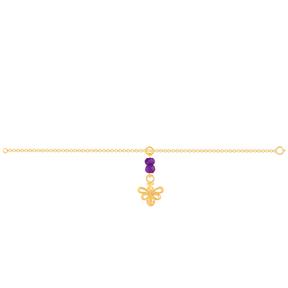 دستبند طلا بچه گانه زنبور