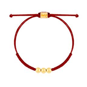 دستبند طلا بافت سه گوی