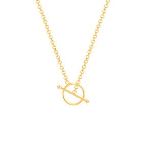 گردنبند زنجیری طلا رولو و قفل دایره