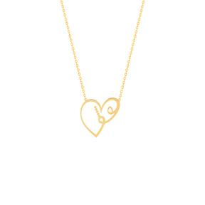 گردنبند طلا عشق و قلب